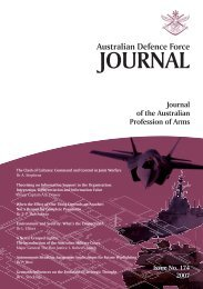 Issue No. 174 2007 - Australian Defence Force Journal