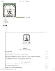 (Print - Gourmet Bakery & Caf\351   Menu) - Woodlands Online