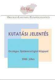 Kutatási jelentés2000 - Országos Egészségfejlesztési Intézet