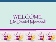 WELCOME Dr Daniel Marshall - National Centre Against Bullying