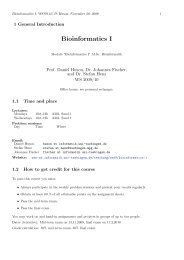 1. Introduction - Algorithms in Bioinformatics