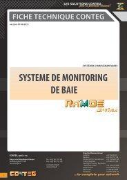 fiche technique conteg systeme de monitoring de baie