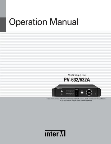 Operation Manual - Now Sound