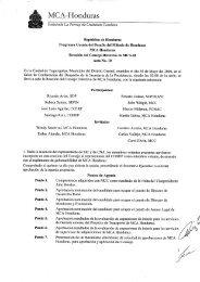 Acta 10 - Cuenta del Milenio - Honduras