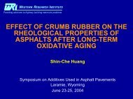effect of crumb rubber on the rheological properties of asphalts after ...
