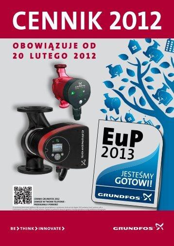Cennik na pompy i osprzÄ™t - Grundfos