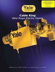Yale Cable King Wire Electric Hoists - A-Lined Handling Systems