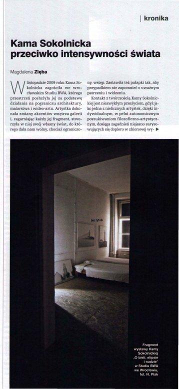 Kama Sokolnicka - Waterside Contemporary
