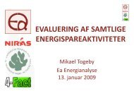 evaluering af samtlige energispareaktiviteter - Ea Energianalyse