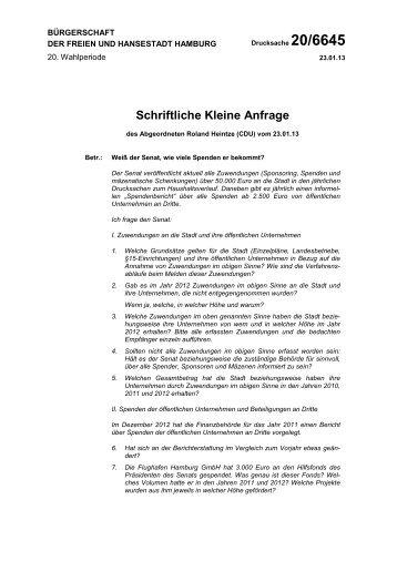 Drucksache 20/6645 anzeigen - Roland Heintze MdHB