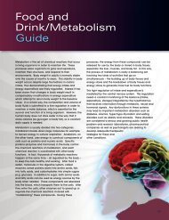 Food and Drink/Metabolism Guide