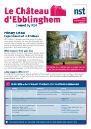 Primary School Experiences at le Château - NST Travel Group