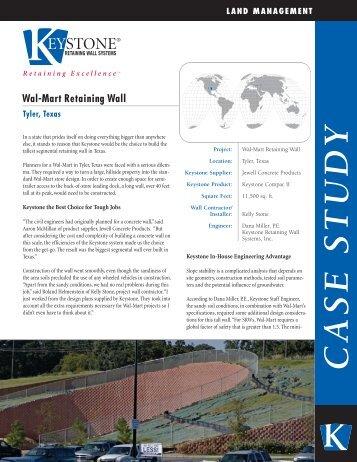 Wal-Mart Retaining Wall C A S E S T U D Y - Keystone