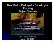 New Madrid Earthquake Catastrophic Planning ... - EMForum.org