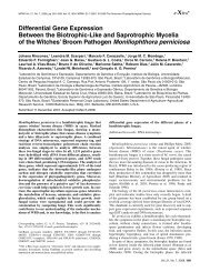 Differential Gene Expression Between the Biotrophic-Like and ...