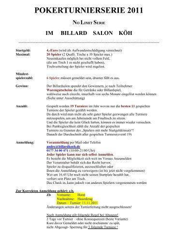 regelwerk 2011 - Billardsalon Köh