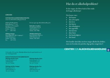 Alkoholbehandling - Region Hovedstadens Psykiatri