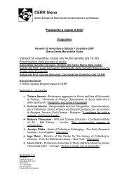Copertina del fax - Comune di Siena