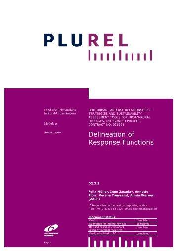 Delination of response Functions - Plurel