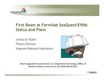 First Beam at Fermilab SeaQuest/E906: Status and Plans
