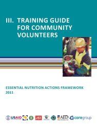 iii. training guide for community volunteers - CORE Group