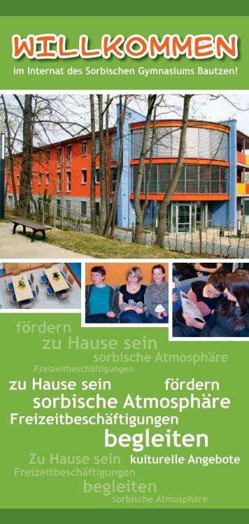 im Internat des Sorbischen Gymnasiums Bautzen - WITAJ ...
