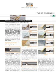 FLOOR PROFILES - Schluter Systems