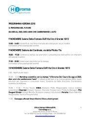 Programma dettagliato dell'evento in pdf - H2Roma