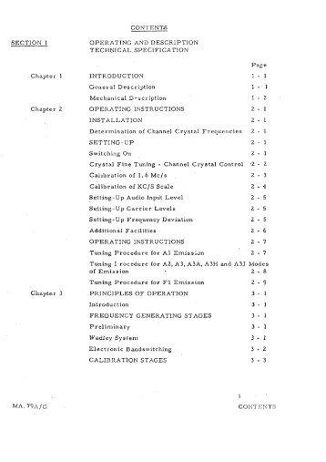 Racal MA79 Universal Drive Unit Technical Manual - VMARSmanuals