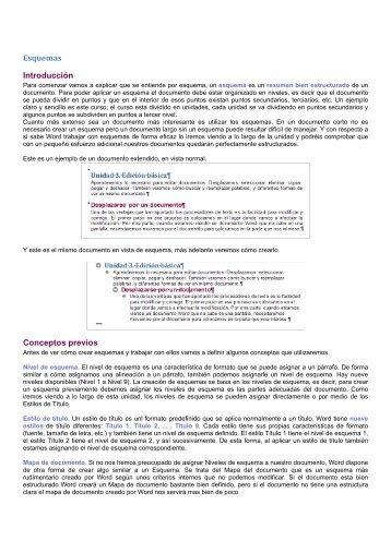 Esquemas Introducción Conceptos previos - Instituto Mar de Cortés