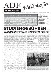 Wadenbeißer Nr. 64 vom 24.04.2006 [PDF] - ADF ...