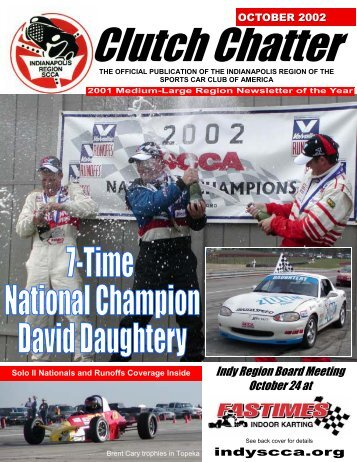 OCTOBER 2002 Clutch Chatter - Indianapolis Region