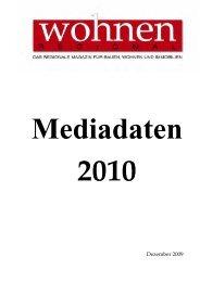 Mediadaten 2010 - Wohnen Regional Online Magazin