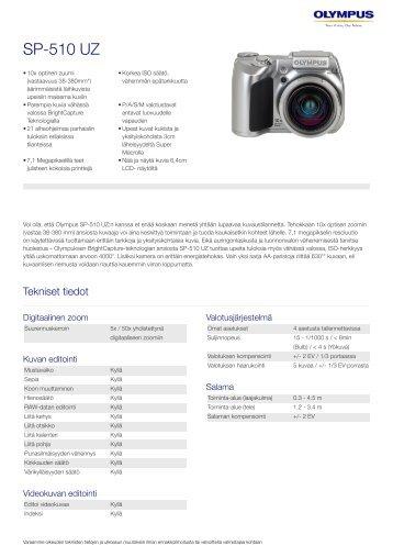 SP-510 UZ, Olympus, Compact Cameras