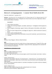 3. semester Mat & MatØk efterår 2011 - Institut for Matematiske Fag