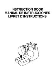 instruction book manual de instrucciones livret d'instructions - Janome