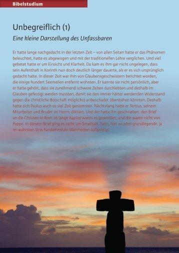 Unbegreiflich (1) - Zeit & Schrift