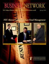 Spring 2004 Issue - NIU College of Business - Northern Illinois ...