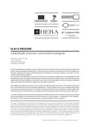 Programme - HERA - Humanities in the European Research Area