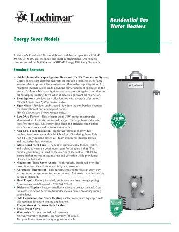 residential gas water heaters lochinvar - Lochinvar Water Heater