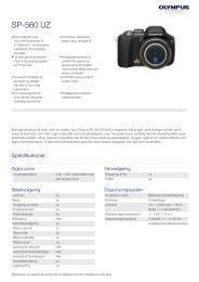 SP-560 UZ, Olympus, Compact Cameras