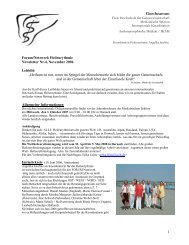 Newsletter Nr. 4 - International Eurythmy Therapy Forum
