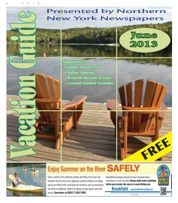 Vacation Guide June 2013 - Watertown Daily Times