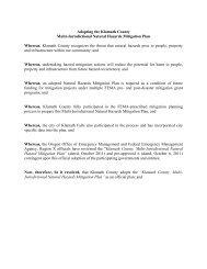 Plan for - Klamath County