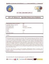 WP 3, D7 Release II - Markus Mu(e)ck's Home Page