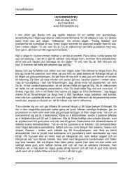 Huvudbiskopen Sidan 1 av 3 HUVUDBISKOPEN Den 29. Maj, 2010 ...