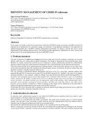 IDENTITY MANAGEMENT OF USERS IN eduroam - TNC2009