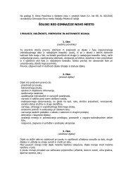 ÅOLSKI RED GIMNAZIJE NOVO MESTO - Gimnazija Novo mesto
