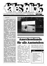 Download Täles Blick Ausgabe 18 - SPD Weissacher Tal
