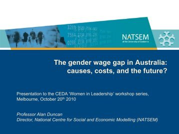 The gender wage gap in Australia - NATSEM